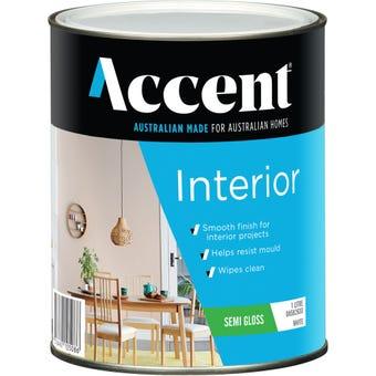 Accent Acrylic Interior Semi Gloss White 1L