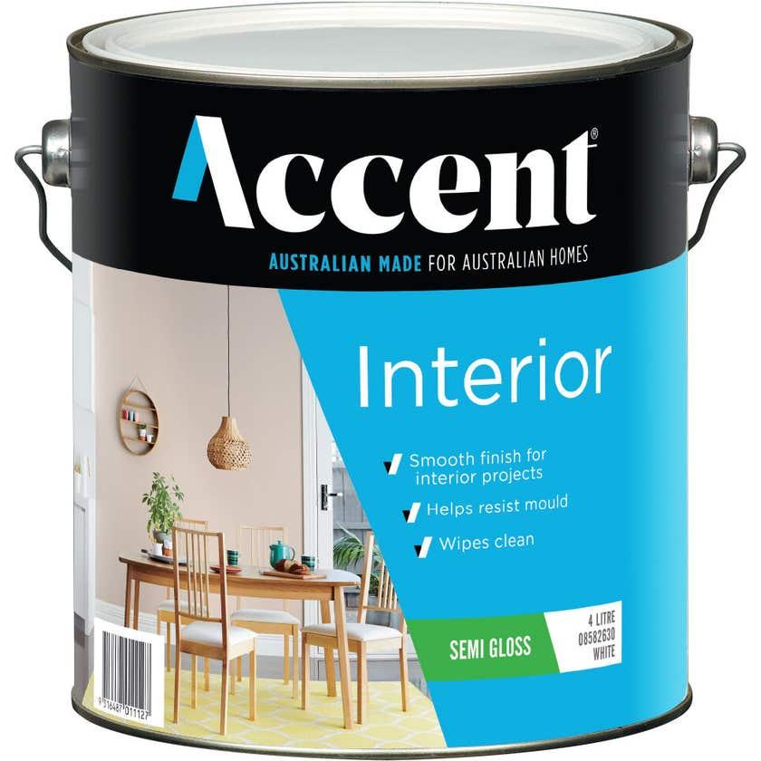 Accent Interior Semi Gloss White 4L