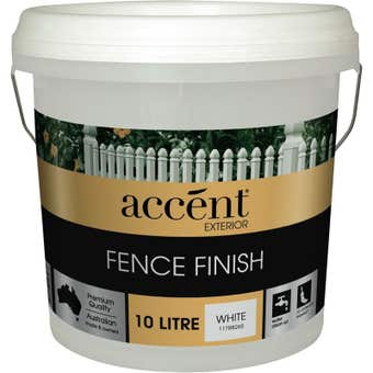 Accent Fence Finish White 10L