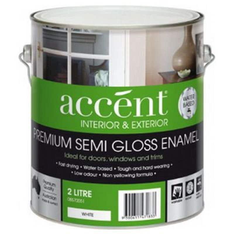 Accent Doors, Windows & Trims Oil Based Semi Gloss White 2L
