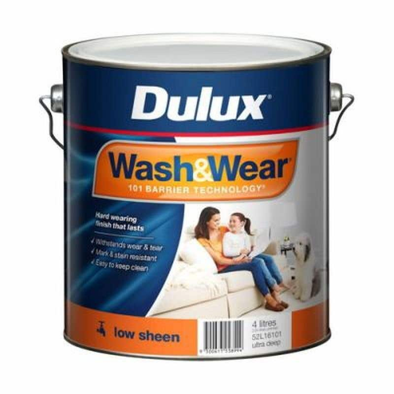 Dulux Wash & Wear Interior Low Sheen Ultra Deep Base 4L