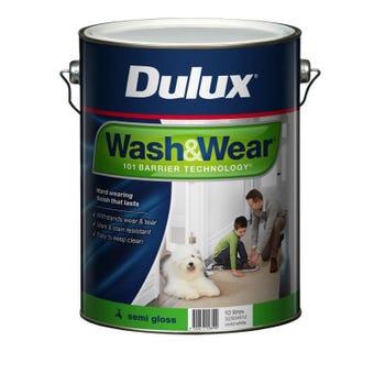 Dulux Wash & Wear Interior Semi Gloss Vivid White 10L