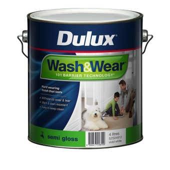 Dulux Wash & Wear Interior Semi Gloss Vivid White 4L