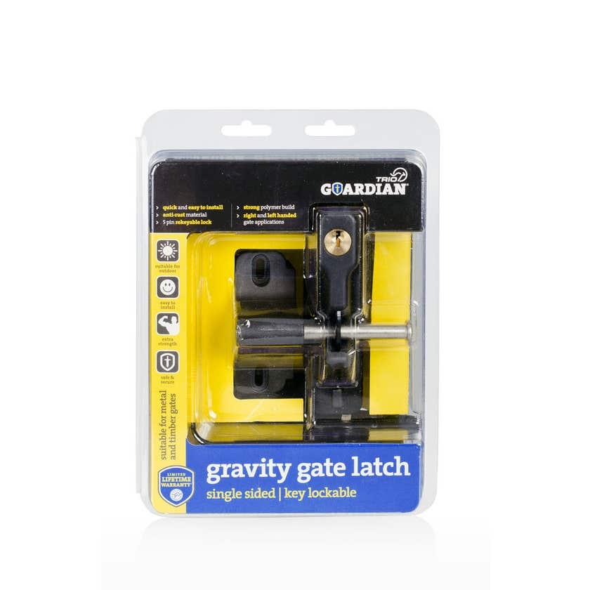Trio Guardian Gravity Single Gate Latch Black
