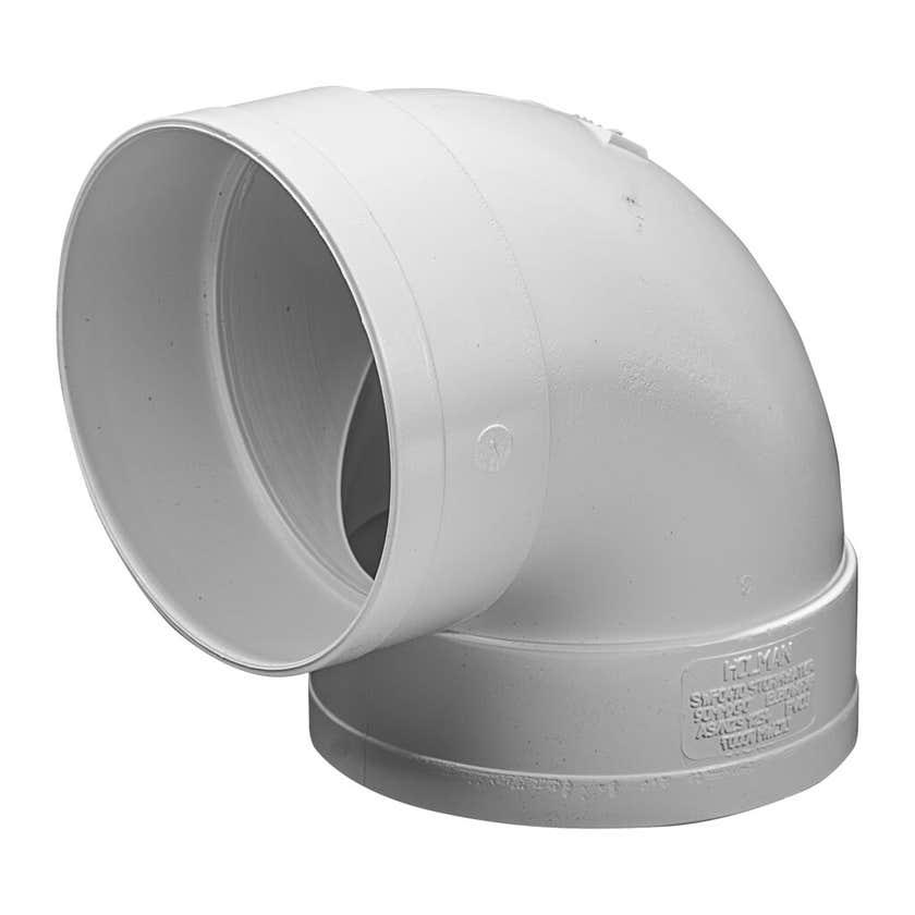 Holman 90 Degrees F&F PVC Stormwater Elbow 90mm