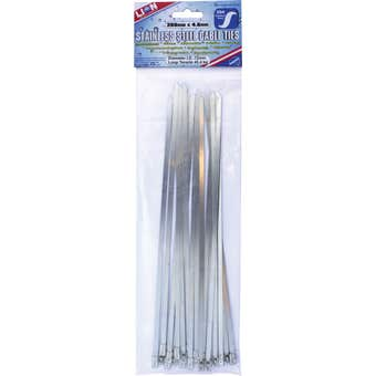 Lion Cable Tie Stainless Steel 266 x 4.6mm - 20 Pack
