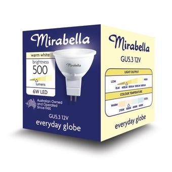 Mirabella LED Downlight GU5.3 6W Warm White
