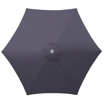Steel Market Umbrella Charcoal 2.5m