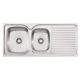 Endeavour 1 Tap Hole Left Hand 1 & 3/4 Bowl Sink with Drainer