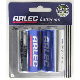 Arlec Extra Heavy Duty Battery - 2 x D