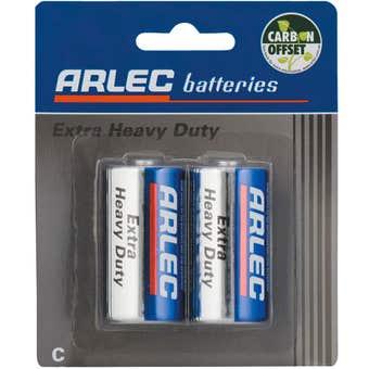 Arlec Extra Heavy Duty Battery - 2 x C