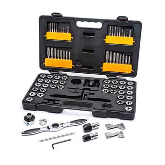 GEARWRENCH SAE/Metric Ratcheting Tap and Die Set - 77 Piece