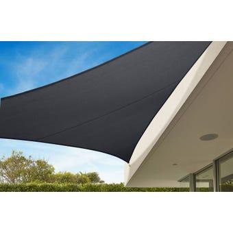 Coolaroo Commercial Grade Triangle Sail Shade Graphite 6.5m