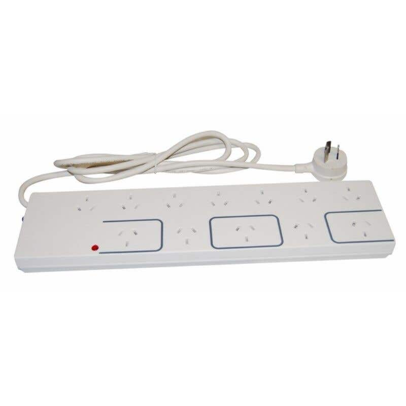 HPM 10A 12 Outlet Power Board White