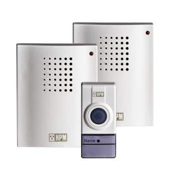 HPM Wireless Door Chime with 2 Receivers