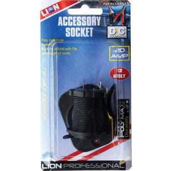 Lion Accessory Socket Interior Mount 12V 20A