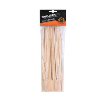Grillman Bamboo Skewers with Handle - 50 Pack