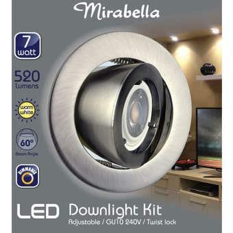 Mirabella LED GU10 Adjustable Downlight Kit 7W