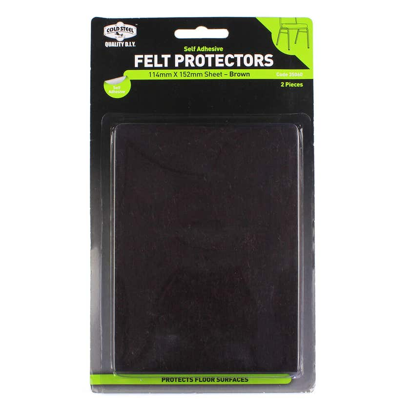 Cold Steel Felt Protectors Sheet Brown 114 x 152mm - 2 Pack