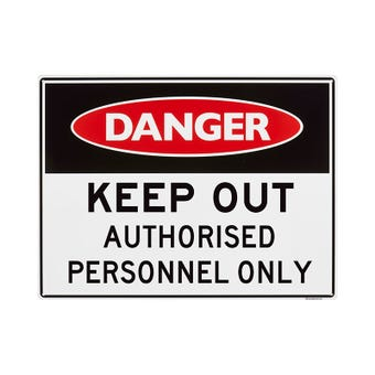 Sandleford Authorised Personnel Only Sign Large