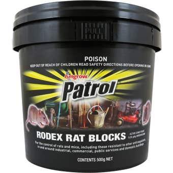 Amgrow Patrol Rodex Rat Blocks 20x25g