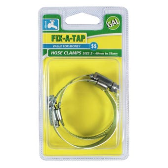FIX-A-TAP Size 2 40-55mm Galvanised Hose Clamps