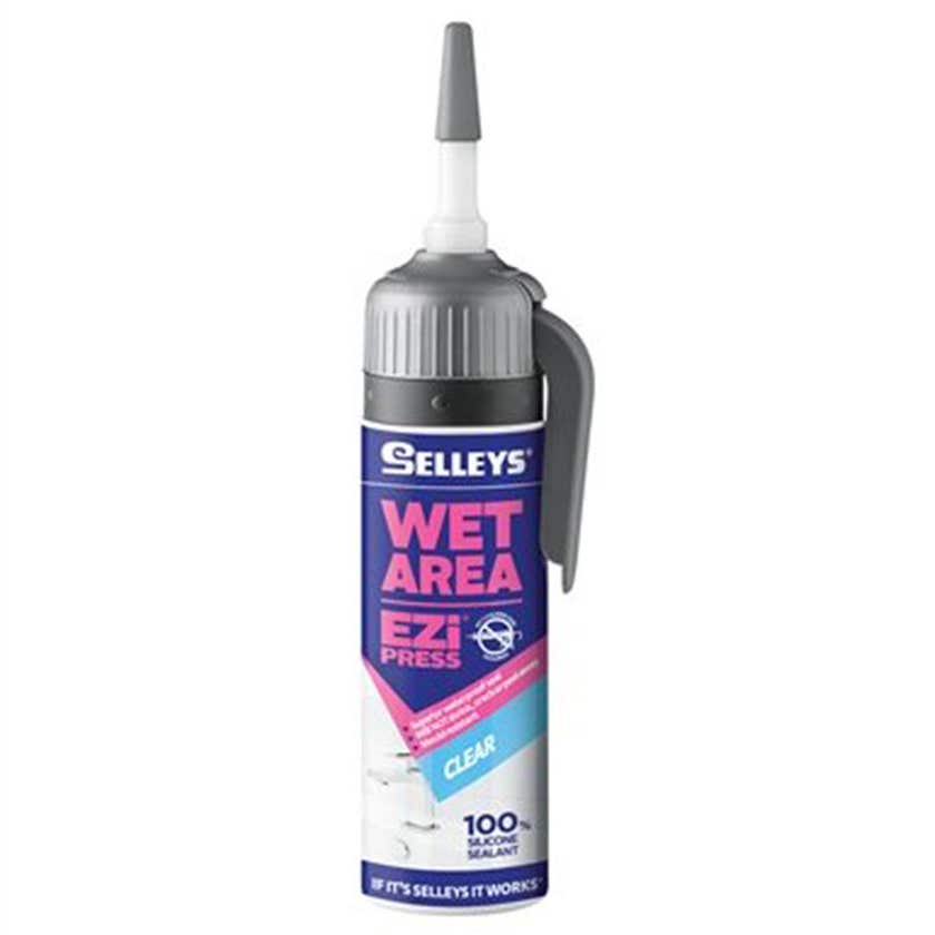 Selleys Silicone Wet Area Ezi Press Clear 100g