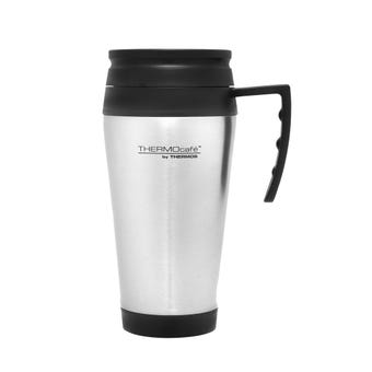 THERMOcafe™ 400ml Stainless Steel Outer Foam Insulated Travel Mug