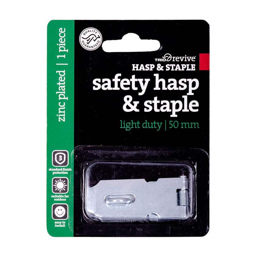 Trio Light Duty Hasp & Staple 50mm