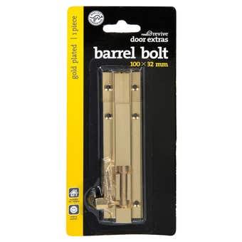 Trio Bolt Barrel Gold Plated 100 x 32mm