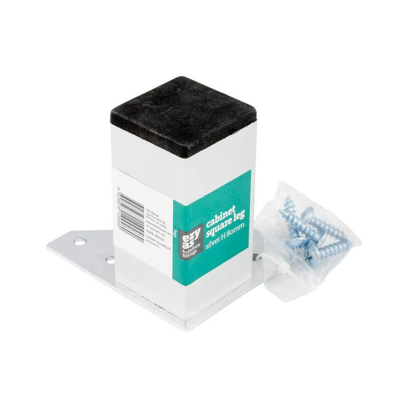 Trio Cabinet Square Plastic Leg 80mm