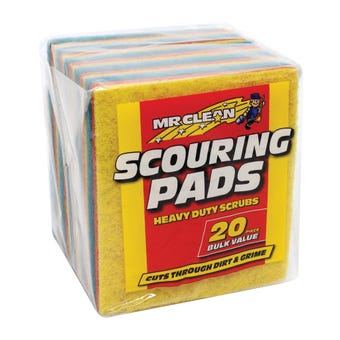 Mr Clean Scouring Pads - 20 Pack