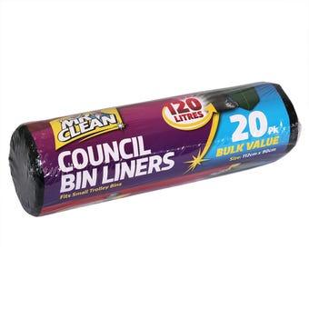 Mr Clean Council Bin Liners 120L - 20 Pack