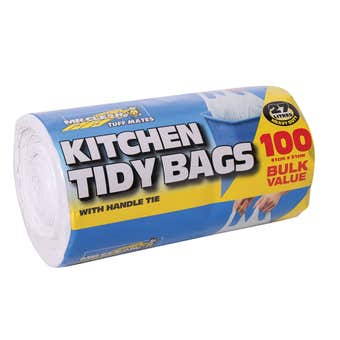 Mr Clean Kitchen Tidy Bags 27L - 100 Pack