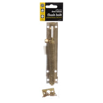 Trio Barrel Bolt Polished Brass 32 x 150mm