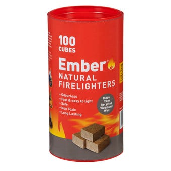 Ember Wooden Firelighters Tube 100 pack