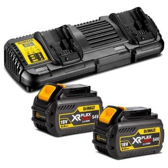 DeWALT 18-54V FlexVolt 6.0Ah Dual Port Battery & Charger Kit