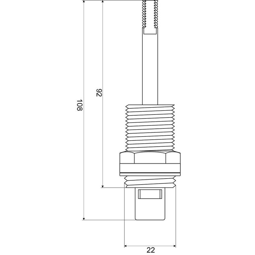 Mildon Ceramic Disc Spindle 1/2 Turn Wall Cold