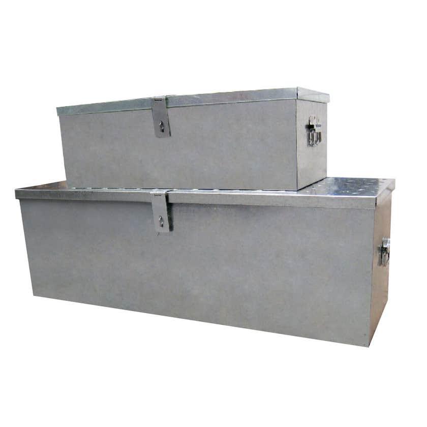 Storage Geelong Tool Box Galvanised Steel - 2 Pack