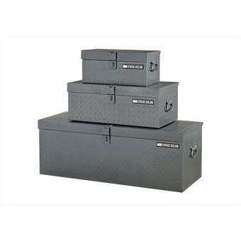 Storage Geelong Diamond Plate Tool Box 3 Pack
