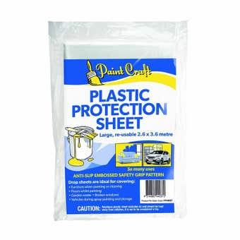Paint Craft Plastic Protection Sheet Large 2.6 x 3.6m