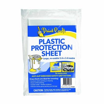 Paint Craft Plastic Protection Sheet Large 2.6 x 3.6m