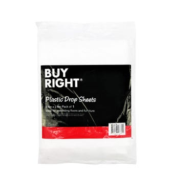 Buy Right Plastic Drop Sheet - 1 Pack
