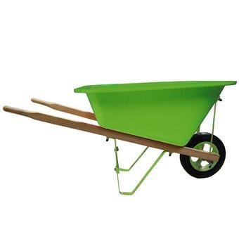 Kids Wheelbarrow Poly Tray Green 20L