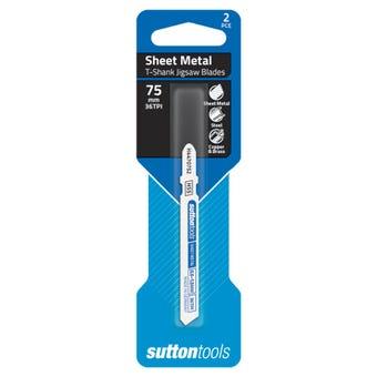Sutton Tools T-Shank Jigsaw Blade Sheet Metal 36 TPI 75mm - 2 Piece