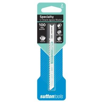 Sutton Tools T-Shank Jigsaw Blade Specialty Plastics 100mm - 2 Piece