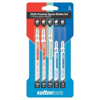 Sutton Tools T-Shank Jigsaw Blade Set Multi-Purpose - 5 Piece