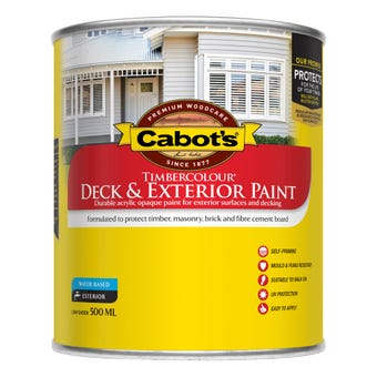 Cabot's Timbercolour Deck & Exterior Paint White 500ml
