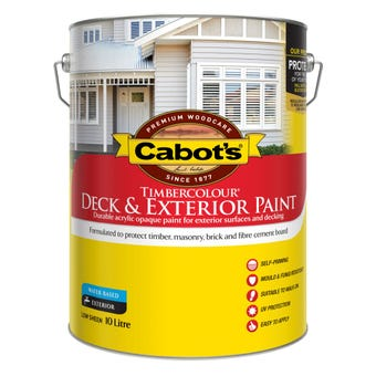 Cabot's Timbercolour Deck & Exterior Paint Extra Bright Base 10L