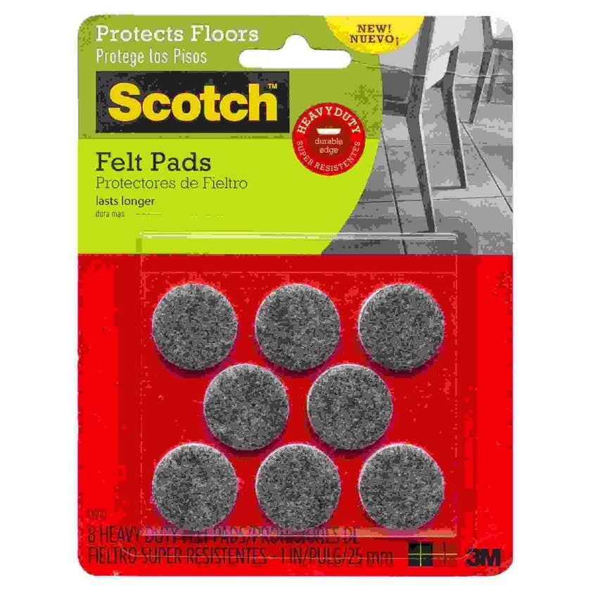 Scotch Heavy Duty Felt Pads 25mm - 8 Pack